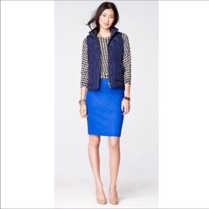 J Crew Royal Blue Wool Pencil Skirt
